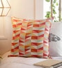 Multicolour Cotton 16 x 16 Inch Printed Geometric Patterns Cushion Cover by Solaj