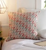 Multicolour Cotton 18 x 18 Inch Abstract Patterns Embroidery Cushion Cover by Solaj