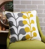 Multicolour Cotton 18 x 18 Inch Printed & Embroidered Cushion Cover by Solaj