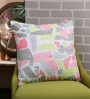 Solaj Multicolour Cotton 18 x 18 Inch Printed Cushion Cover