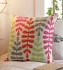 Multicoloured Cotton 16 x 16 Inch Cushion Cover by Solaj