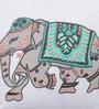 Solaj Multicoloured Cotton 16 x 16 Inch Indian Ethnic Cushion Cover
