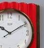 Solar Red Plastic 12 x 2 x 12 Inch Swift Wall Clock