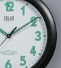 Solar Black Plastic 11 Inch Round Nightly Wall Clock