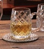 Solitaire Crystal Beer Mug BM-601(S)16Oz-Diamond