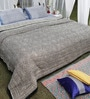Soma Grey & Black Geomatric Cotton King Size Quilt 1 Pc