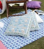 Soma Blue Cotton 20 x 20 Inch Handblock Cushion Covers Combo - Set of 2