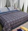 Soma Blues Geomatric Cotton King Size Quilt 1 Pc