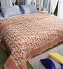 Soma Red & Yellow Nature & Florals Cotton King Size Quilt 1 Pc