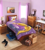 Disney Rapunzel Purple Single Bedsheet - Set of 2