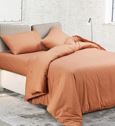 Spread Copper 100% Cotton Queen Size Duvet Cover