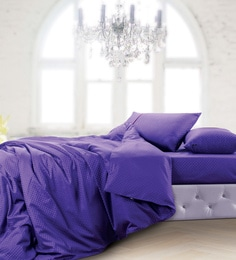Spread Dark Purple 100% Cotton Double Size Duvet Cover