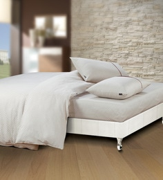 Spread Off White 100% Cotton Double Size Duvet Cover - 1582058