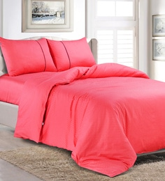 Spread Pink 100% Cotton Double Size Duvet Cover