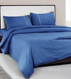 Spread Royal Blue 100% Cotton Double Size Duvet Cover