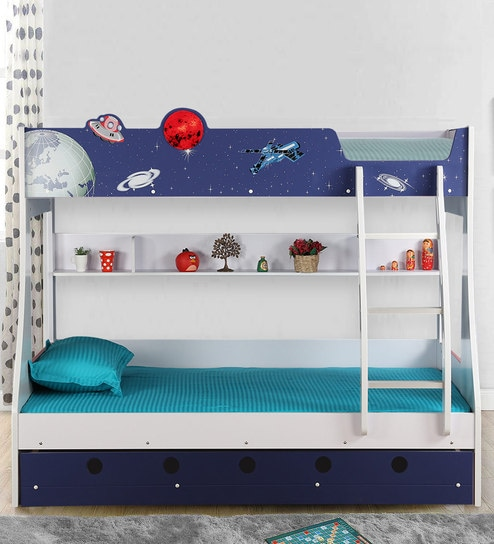 Buy Space Odyssey Bunk Bed In Blue Colour By Hometown Online Bunk