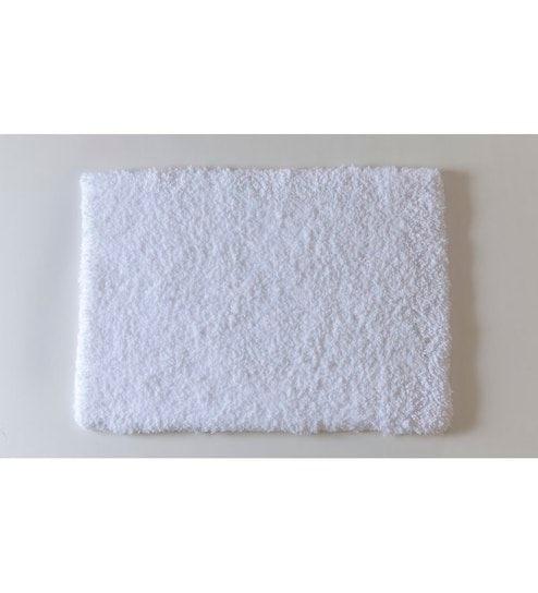 Spaces Large Snow White Cotton Bath Rug