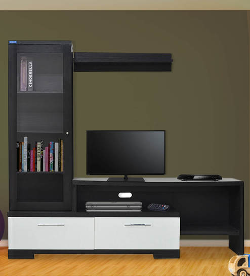 Buy Lifestyle Galaxy Wall TV Unit by Spacewood Online - Modern TV ...