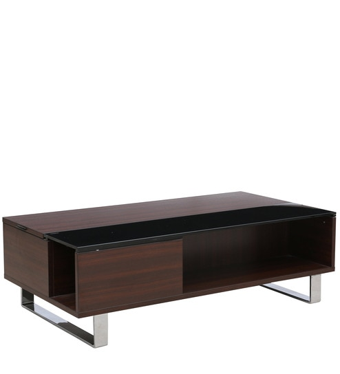 Buy Splendor Coffee Table With Liftable Top In Dark Oak Finish By - Liftable table