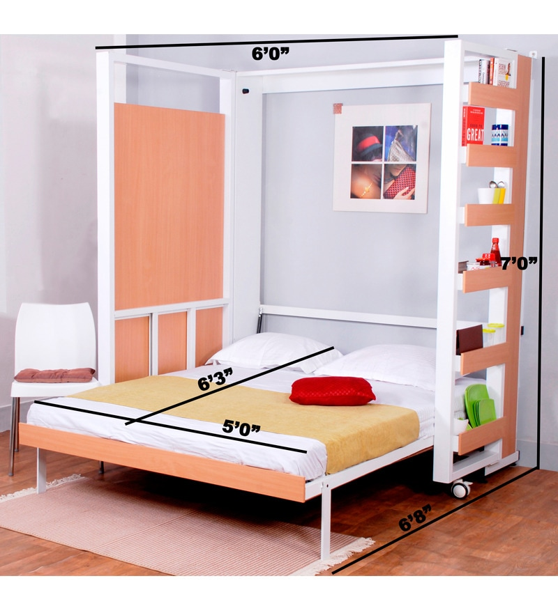 Buy Spaceone Contemporary Double Bed Cum Four Seater