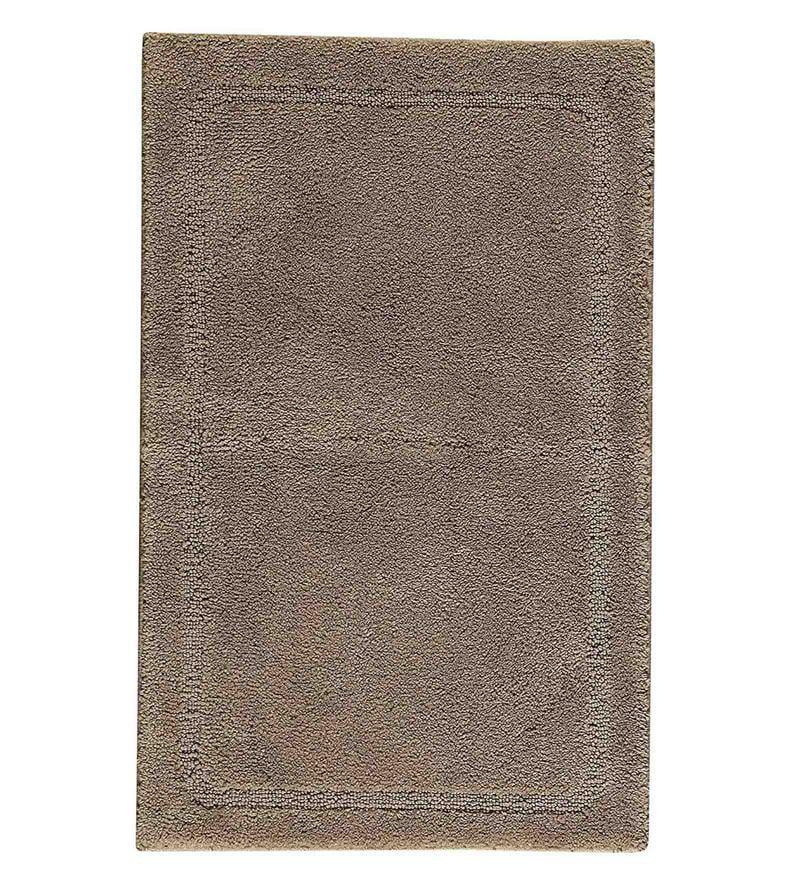 Spaces Brown 100% Cotton 16 x 24 Inch Elan Small Bath Mat