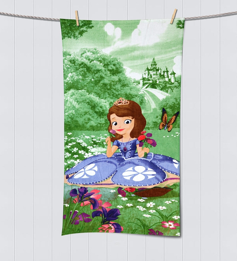 Disney Sophia Green Bath Towel by Spaces