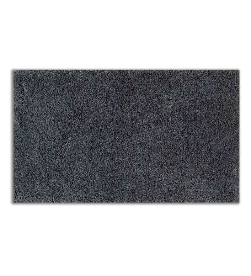 Grey 100% Cotton 19 x 32 Inch Exotica Bath Mat by Spaces