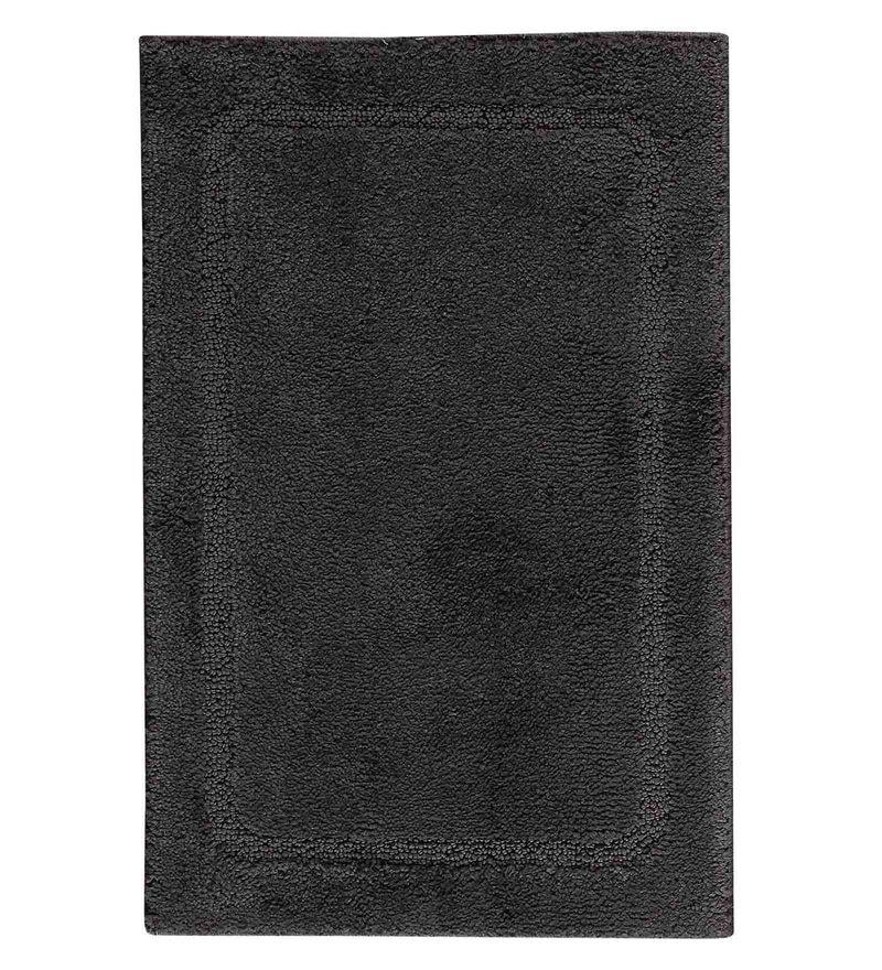 Spaces Grey Shadow 100% Cotton 16 x 24 Inch Elan Small Bath Mat