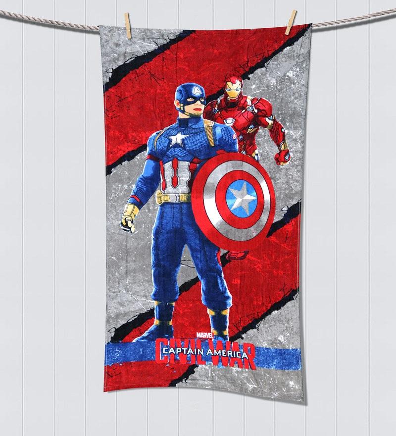 Marvel Civil Wars Red Bath Towel by Spaces
