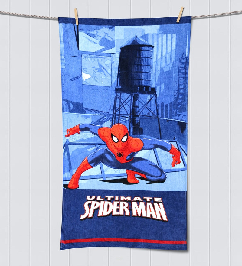 Marvel Spiderman Navy Blue Bath Towel by Spaces