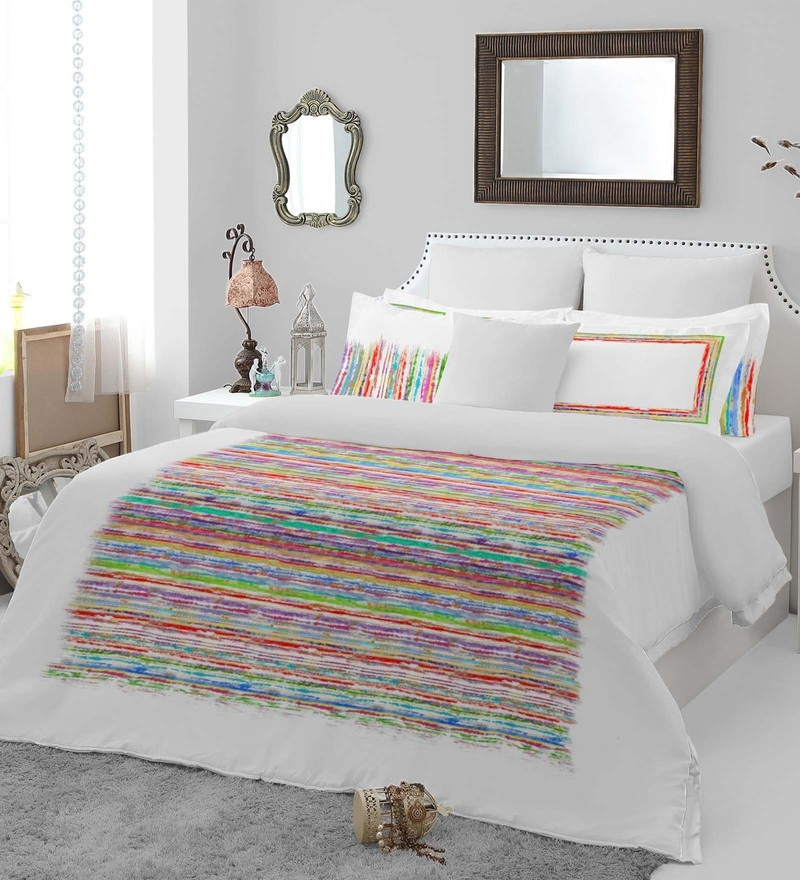 Multicolour 100% Cotton Bohochic King Bed Sheet Set by Spaces