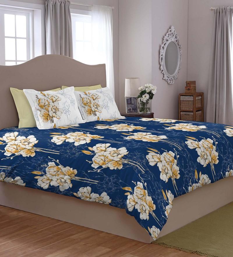 Spaces Navy 100% Cotton Courtyard King Xl Bed Sheet Set