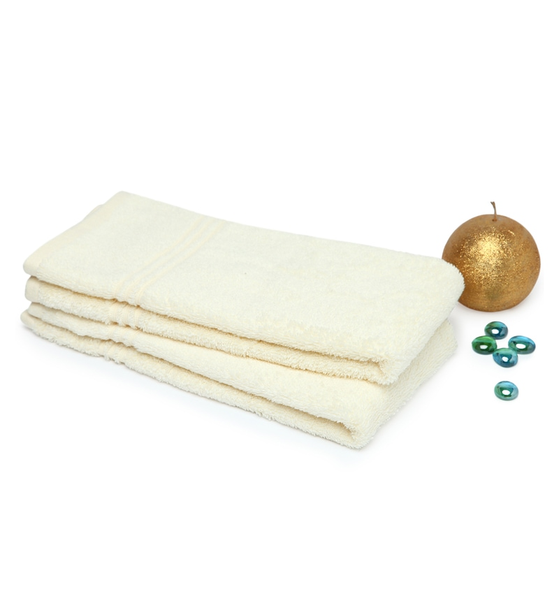 Spaces Pearl 100% Cotton 16 x 24 Inch Swift Dry Hand Towel - Set of 2