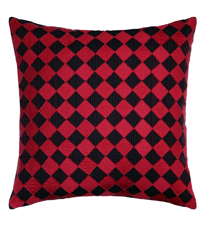 Spaces Red 100% Cotton 16 x 16 Inch Spun Terra Cushion Cover