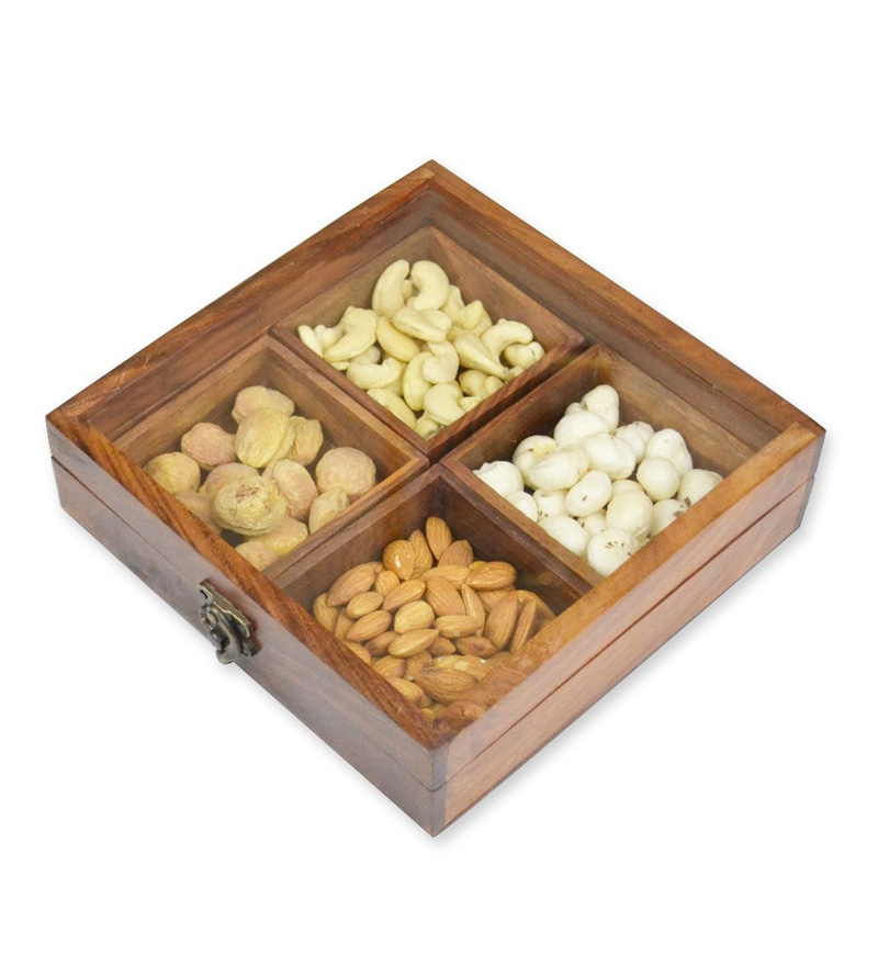 Spectrahut Brown Square Dry Fruit Box