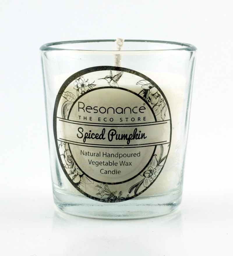Spices & Pumpkin Fragrance Natural Wax Aroma Votive Scented Candle by Resonance