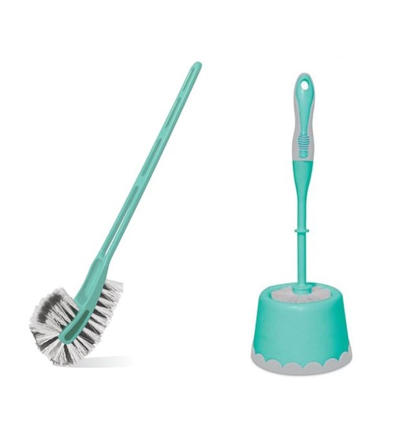 Spotzero from Milton Combi Caddy Round Toilet Brush & Double Side Brush