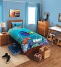 Disney Dory Sea Blue Single Bedsheet with 1 Pillow Cover by Spaces