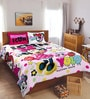 Disney Minnie Pink Double Bedsheet with 2 Pillow Cover by Spaces