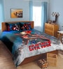 Marvel Civil Wars Blue Double Bedsheet with 2 Pillow Cover by Spaces