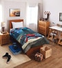 Marvel Spiderman Blue Cotton Single Comforter by Spaces