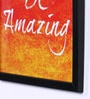 Speaking Frame Wood & Acrylic 8 x 8 Inch Be Amazing Framed Poster