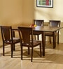 Spectrum Four Seater Dining Set in Antique Oak Finish by @Home
