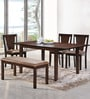 Spectrum Six Seater Dining Set in Antique Oak Finish by @Home