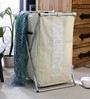 Spread Aluminium Framed Polyester 60 L Beige Laundry Basket