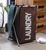 Spread Aluminium Framed Polyester 60 L Brown Laundry Basket