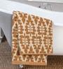 Floral Brown Cotton Hand Towel by ESPRIT