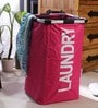 Spread Polyester 50 L Pink Laundry Basket