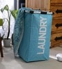 Spread Polyester 50 L Sky Blue Laundry Basket