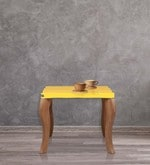 Square Coffee Table in Yellow Colour